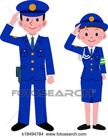 clipart of police officers k18494784 search clip art illustration rh fotosearch com clipart police officer free clipart images police officer