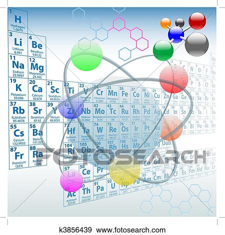 Clip art of atomic elements periodic table chemistry design k3856439 atomic elements periodic table atoms molecules chemistry design urtaz Choice Image