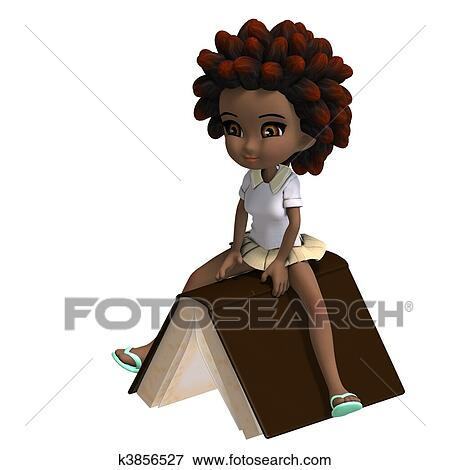 Drawing of a Little Girl With Curly Hair Girl With Curly Hair is