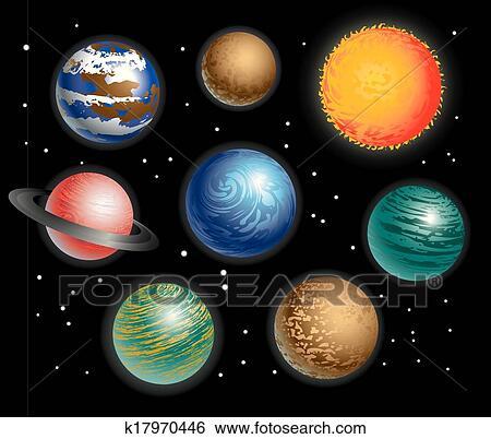 Solar system Clipart and Illustration. 8,173 solar system clip art ...