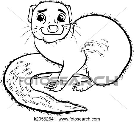 Clipart of mongoose animal cartoon coloring book k20552641 for Mongoose coloring page