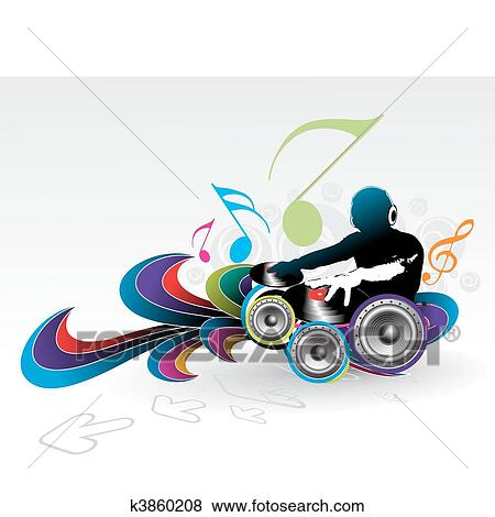 Clip Art Of Music Theme K3860208 Search Clipart