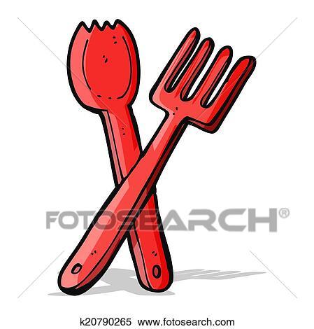 剪贴画 - 卡通漫画, 刀叉餐具图片