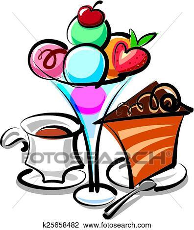 Clipart of ice cream dessert k25658482 - Search Clip Art ...