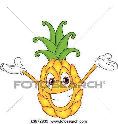 Ananas-Sorbet-Eis und frische Ananas mit Minze - Rezept