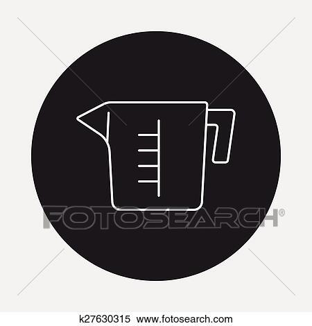 Messbecher clipart  Clipart - meßbecher, linie, symbol k27630315 - Suche Clip Art ...