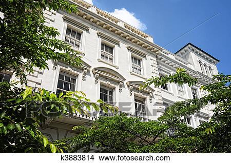 Stock foto elegante mehrfamilienhaus in notting for Elegante wandbilder