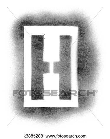 picture stencil letters in spray paint fotosearch search stock