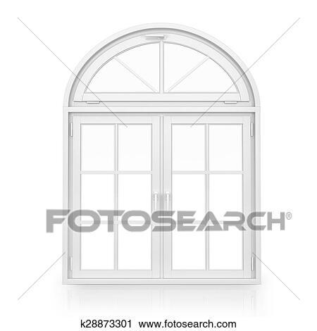 Fenster clipart schwarz weiß  Clipart - windows., plastik, bogen, fenster, freigestellt, weiß ...