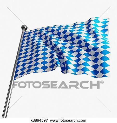 Stock Illustration of bavaria flag k3894597 - Search EPS ...