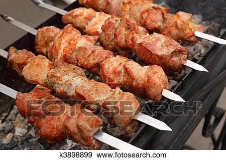 Banque de photographies chiche kebab shish k3898899 for Cuisinier kebab