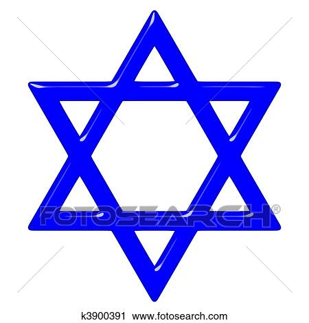 clipart of 3d star of david k3900391 search clip art illustration rh fotosearch com Star of David Holocaust White Star Clip Art
