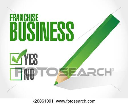 Clipart of franchise business check sign k26861091 ...