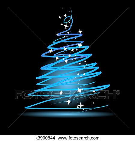 Clipart weihnachtsbaum auf schwarzer hintergrund k3900844 suche clip art illustration - Schwarzer weihnachtsbaum ...