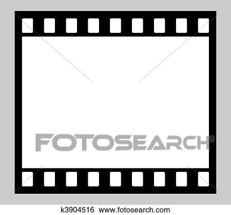 Stock illustration 35mm film strip fotosearch search clip art