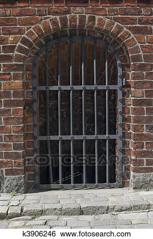 Stock Images Of Medieval Iron Gate K3906246 Search