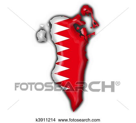 Drawings Of Bahrain Button Flag Map Shape K Search Clip - Bahrain map vector