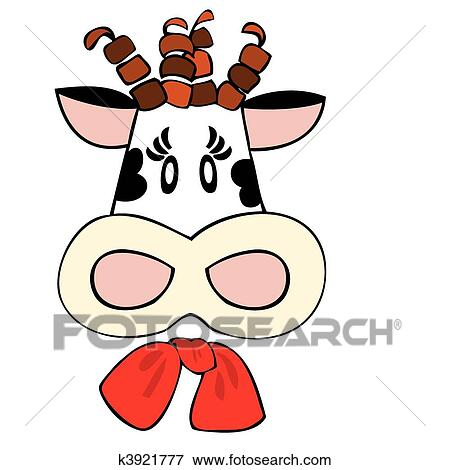 clip art of dairy cow with red bow k3921777 search clipart rh fotosearch com clipart dairy products dairy farm clipart