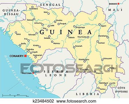 how to draw guinea conakry art