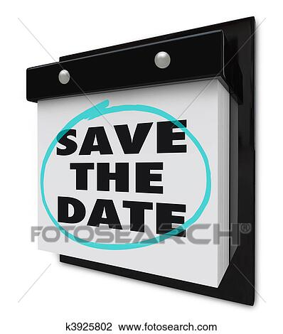 clip art retten dass datum wand kalender k3925802 suche clipart poster illustrationen. Black Bedroom Furniture Sets. Home Design Ideas