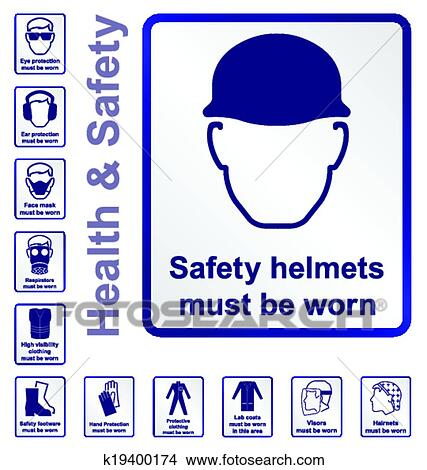 Clipart of Health and safety Signs k19400174 - Search Clip Art ...
