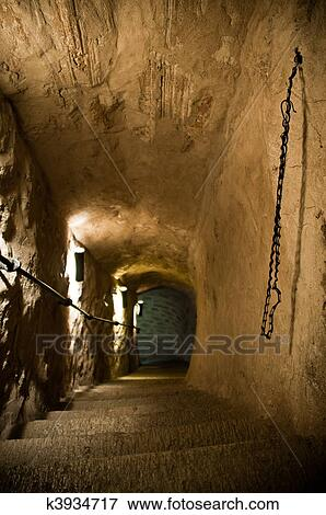 Picture Of Old Dungeon Stairs K3934717 Search Stock