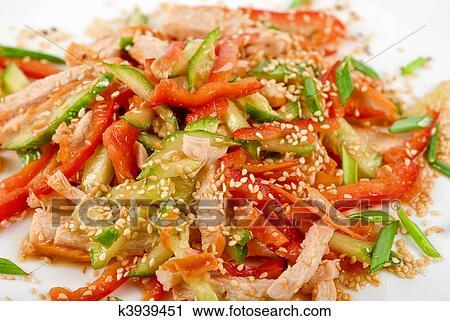 Мясные салатики с фото
