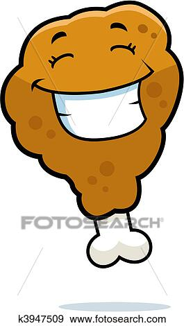 clip art of fried chicken smiling k3947509 search clipart rh fotosearch com fried chicken clipart black and white kentucky fried chicken clip art