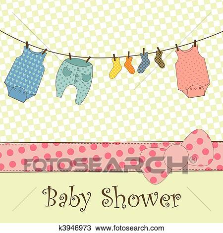 clipart baby shower or arrival card fotosearch search clip art