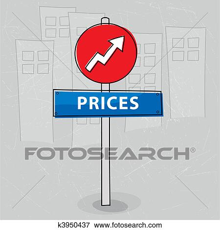 Clip Art of Rising prices k3950437 - Search Clipart, Illustration ...