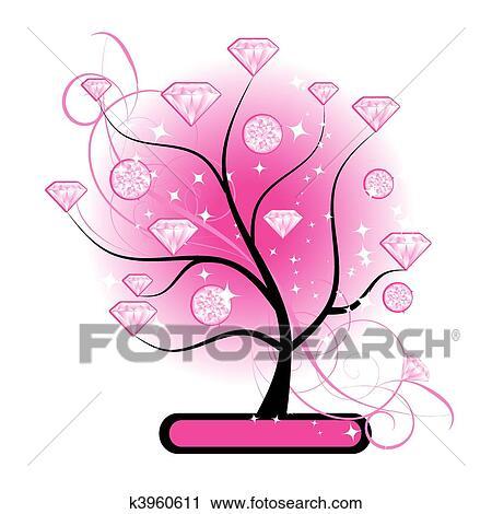 rosa diamanten vektorgrafik - photo #16