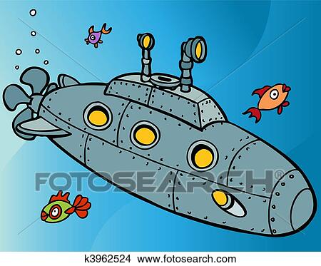 Clipart of Submarine Underwater k3962524 - Search Clip Art ...