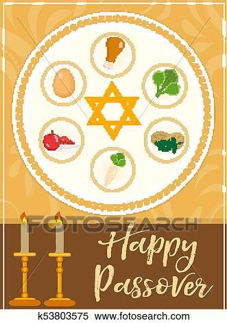 Clipart of passover poster invitation flyer greeting card pesach jewish holiday background vector illustration clipart passover poster invitation flyer greeting card pesach template for your stopboris Choice Image