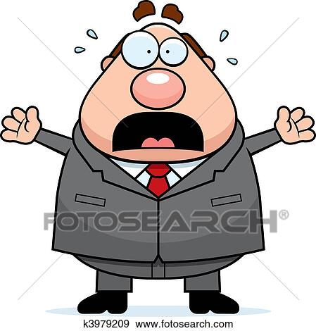 clip art of scared boss k3979209 search clipart illustration rh fotosearch com scared clipart scared clipart