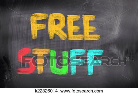 Stock Photo of Free Stuff Concept k22826014 - Search Stock Images ...