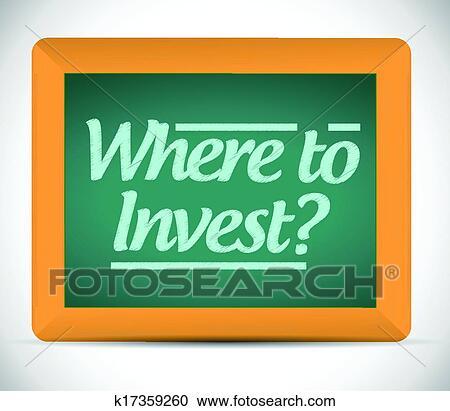 clipart wohin investieren nachricht auf a tafel. Black Bedroom Furniture Sets. Home Design Ideas