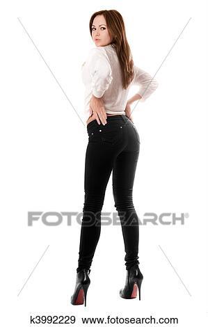 фото секс девушек в джинсах обтяжку