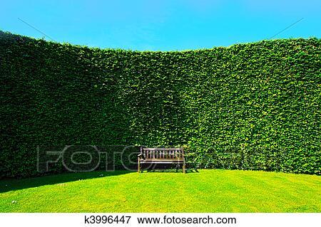 사진 - 정원, 울타리, 와, a, 벤치 k3996447 - 스톡 사진, 포토, 인쇄 ...