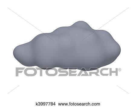 手绘图 - 黑暗, 暴风雨云
