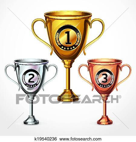 clip art of numbers trophy cup se k19540236 search clipart rh fotosearch com clipart trophy free trophy clipart images