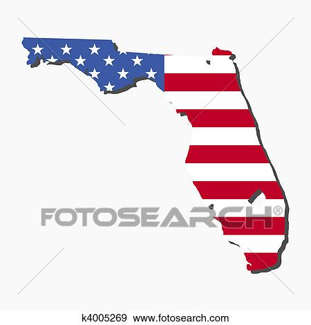 stock ilration florida map flag fotosearch search vector clipart drawings print