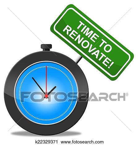 clipart time to renovate represents make over and modernize fotosearch search clip art
