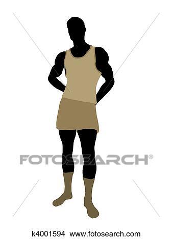 手绘图 - 男性, 内衣,图片