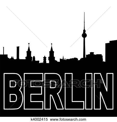 stock illustration berlin skyline schwarz silhouette k4002415 suche clipart zeichnungen. Black Bedroom Furniture Sets. Home Design Ideas