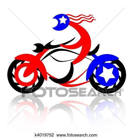 clip art of american rider k4019752 search clipart illustration rh fotosearch com american clip art free america clipart