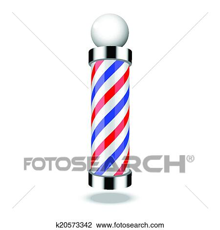 clipart of classic barber shop pole k20573342 search clip art rh fotosearch com barber shop pole clip art free Barber Pole Artwork