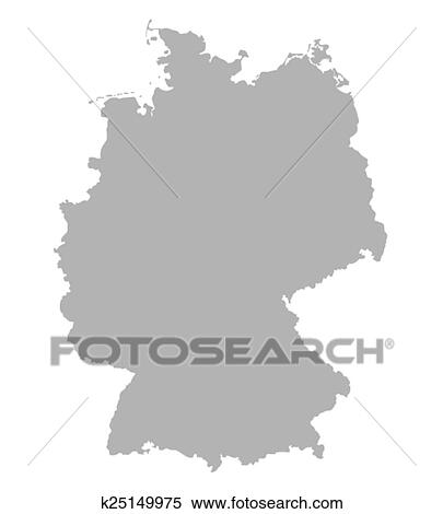 Clipart Of Grey Map Of Germany K Search Clip Art - Germany map clipart