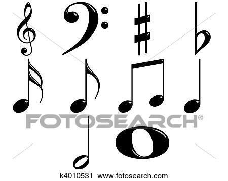 Clipart of 3d music notes k4010531 search clip art for Note musicali dwg
