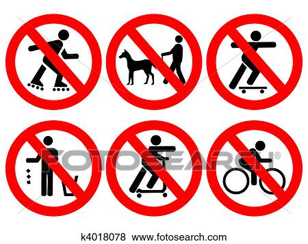 Stock Illustration of Park rules signs k4018078 - Search EPS Clip Art ...