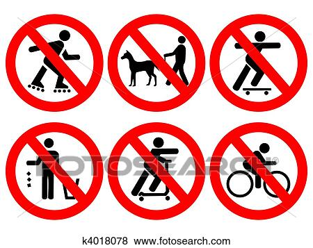 Stock Illustration Of Park Rules Signs K4018078 Search